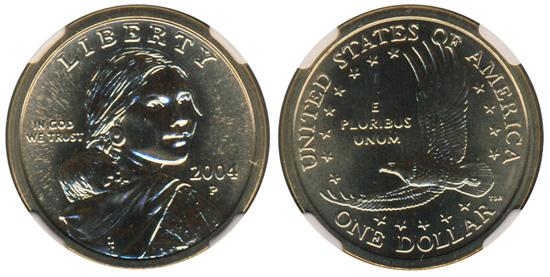 2004 Sacagawea Golden Dollar