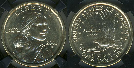 2001 Sacagawea Dollar