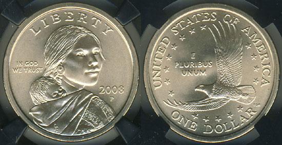 2008 Sacagawea Dollar