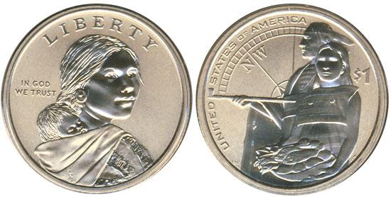 2014 Enhanced Uncirculated Sacagawea Dollar